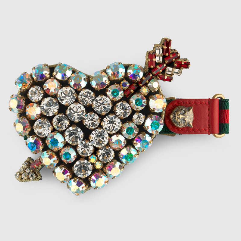 Web bracelet with crystal heart