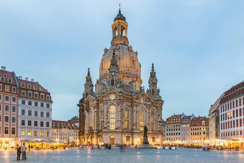Frauenkirche zu Dresden, Abendstimmung